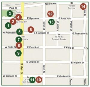 La Veta Map
