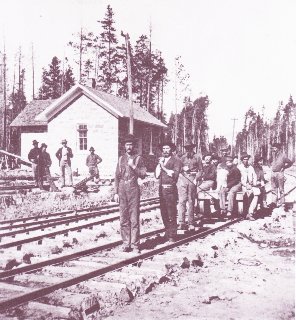 Workers and Depot in 1877