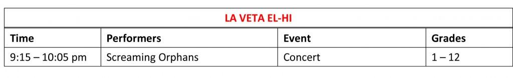 Thurs Schedule